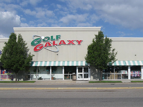 Storefront of Golf Galaxy store in Salt Lake City, UT