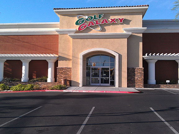 Storefront of Golf Galaxy store in Las Vegas, NV