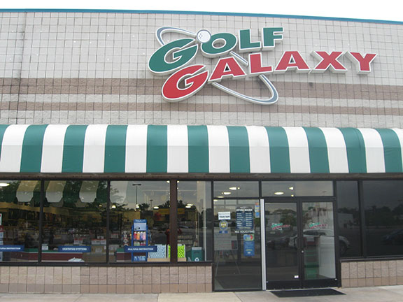 Storefront of Golf Galaxy store in Sylvania Township, OH