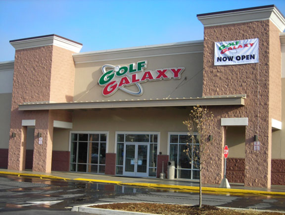 Storefront of Golf Galaxy store in Allentown, PA