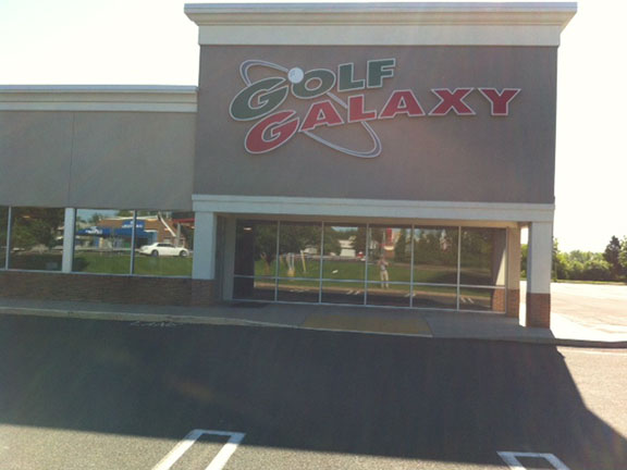 Storefront of Golf Galaxy store in North Wales, PA