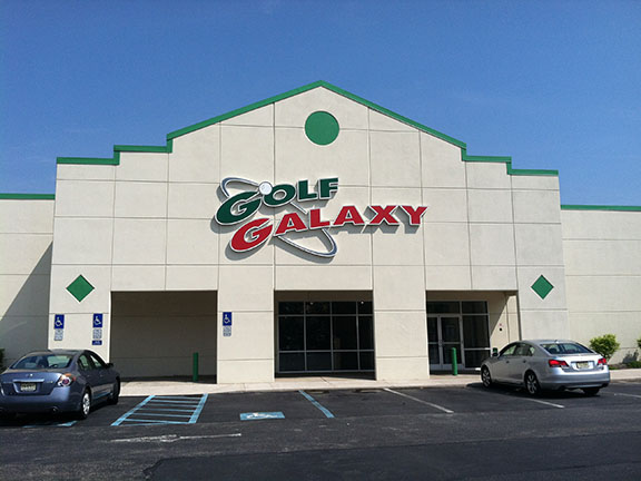 Storefront of Golf Galaxy store in East Hanover, NJ