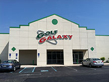 Golf Galaxy storefront. Your local sporting goods supply store in East Hanover, NJ