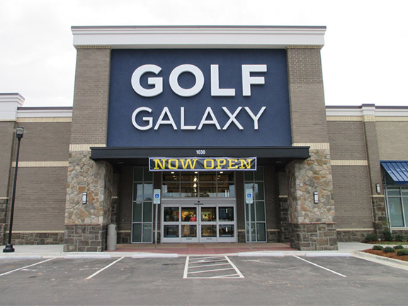 Storefront of Golf Galaxy store in Cary, NC