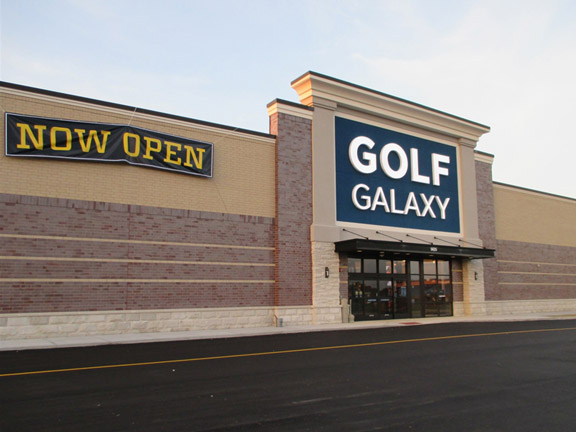 Storefront of Golf Galaxy store in Castleton, IN