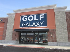 Storefront of Golf Galaxy store in Columbus, OH