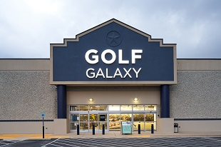 Storefront of Golf Galaxy store in Austin, TX