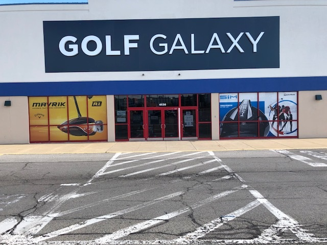 Storefront of Golf Galaxy store in Pittsburgh, PA