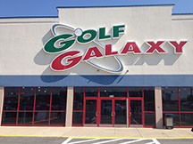 Golf Galaxy storefront. Your local sporting goods supply store in Pittsburgh, PA